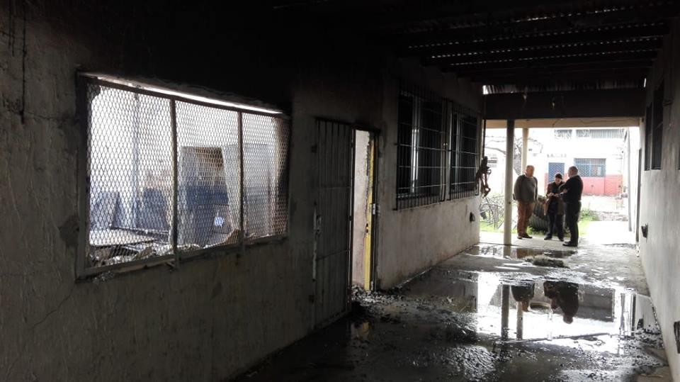 Moreno Incendio Escuela SUTEBA Sandra y Rubén