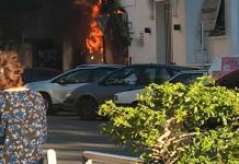 Brutal Incendio Banco Provincia Morón Cajero Automático