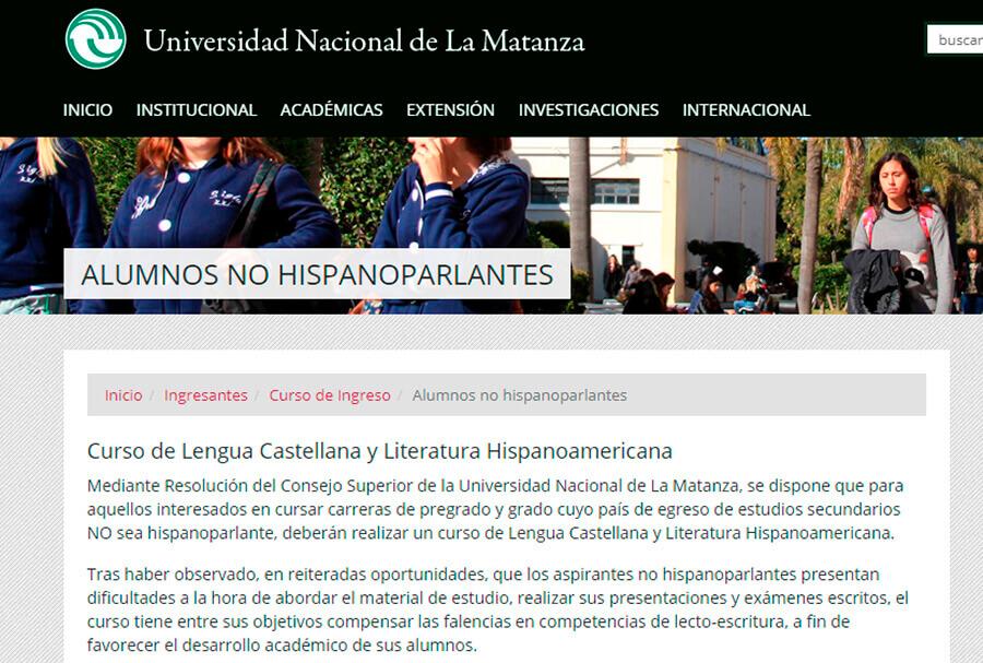 Universidad La Matanza: los brasileros
