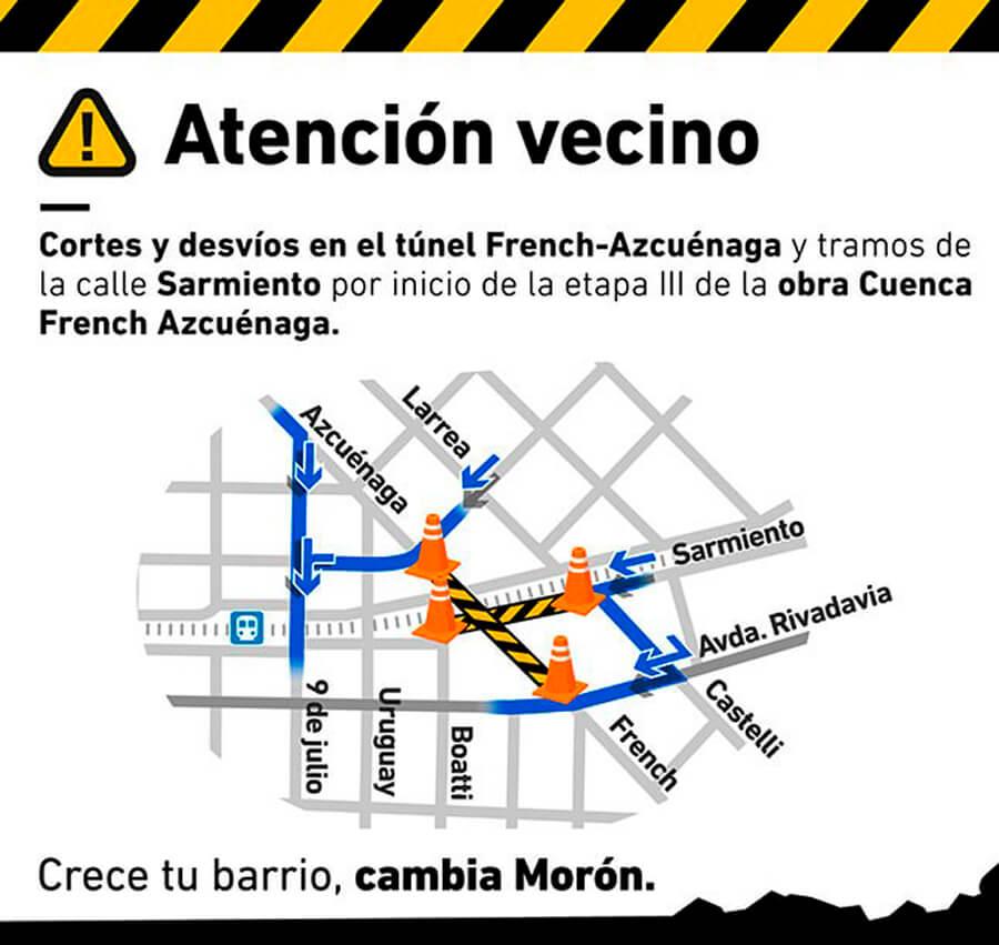 Túnel French Azcuénaga cerrado