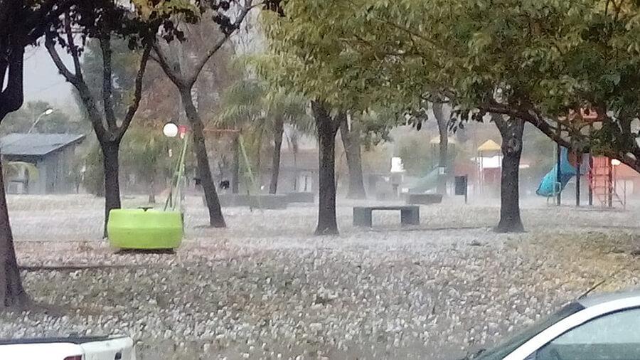 Ahora Morón: Lluvia y granizo