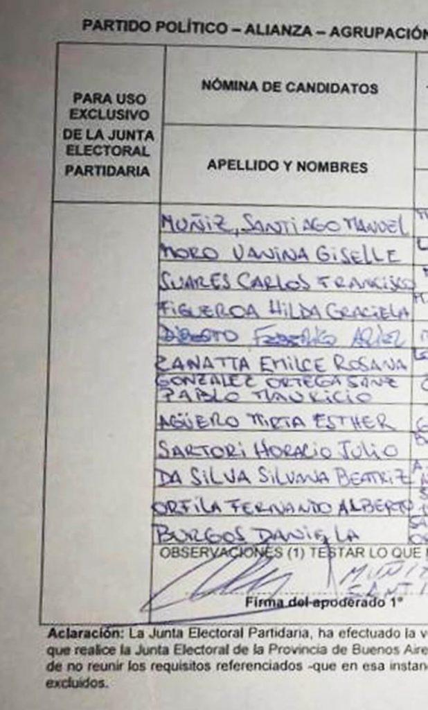 La Lista Peronista