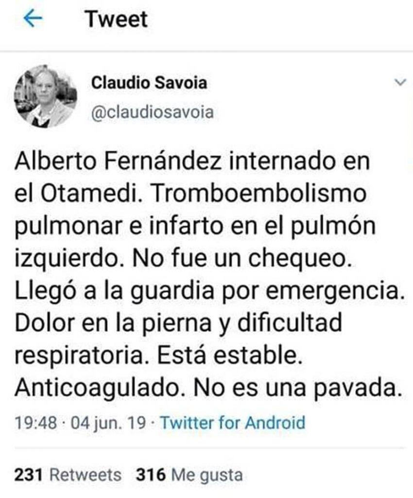 Ahora Clarín: Alberto Fernández