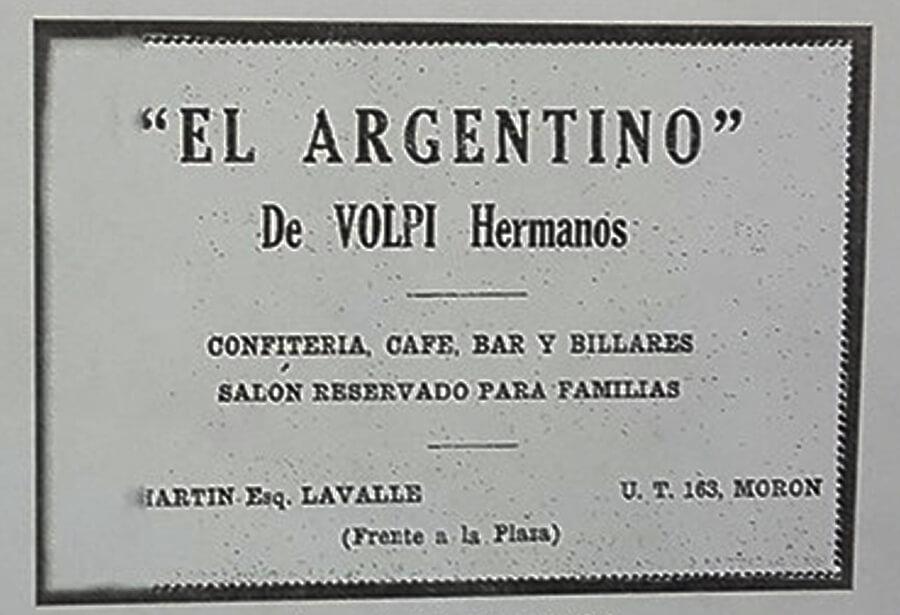 Café El Argentino de Volpi