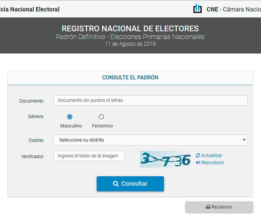 Voto Elecciones 2019: Entrá