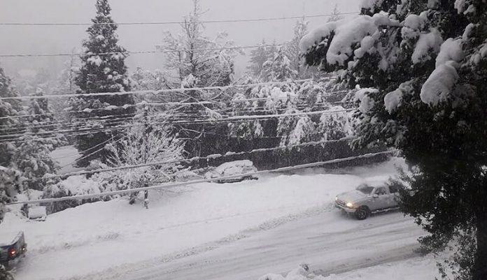 Hoy Impresionante Nevada en Bariloche