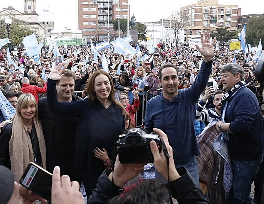 María Eugenia Vidal en Morón