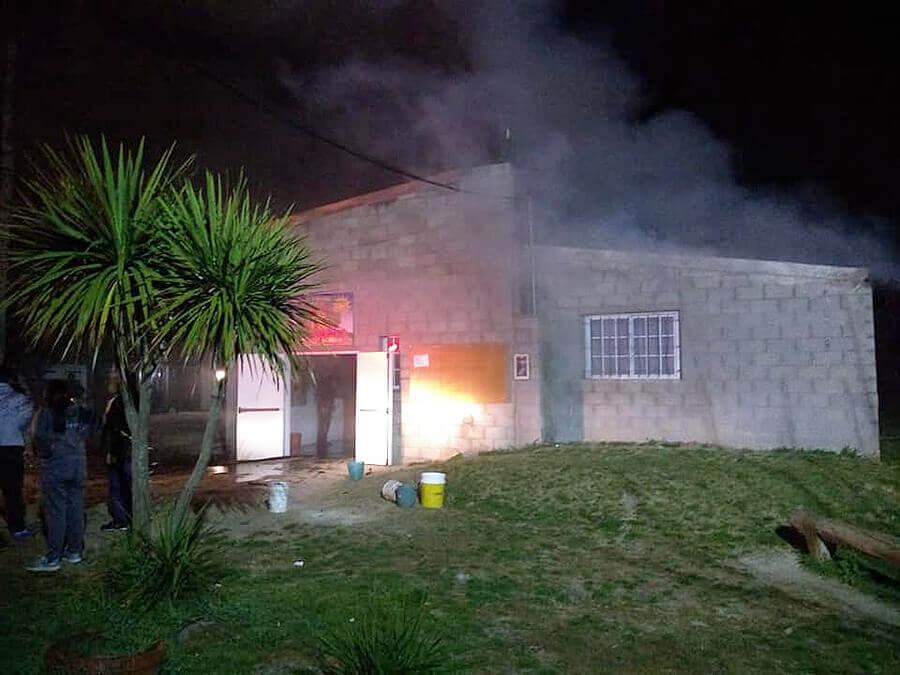 La Matanza: Incendian un Jardín