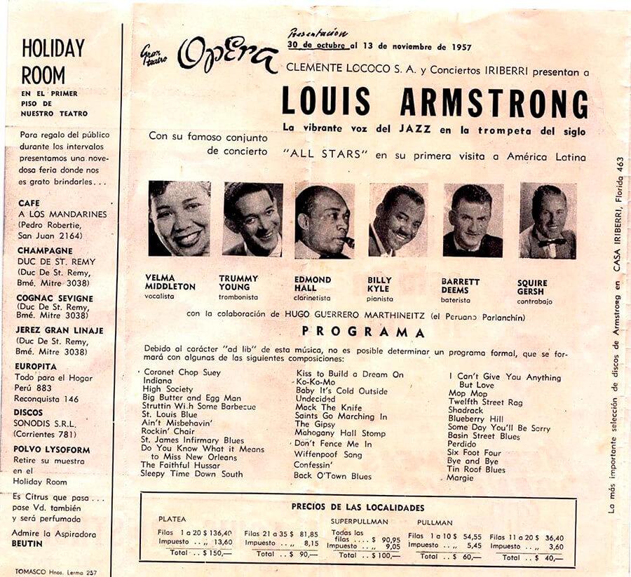 Louis Armstrong en Argentina