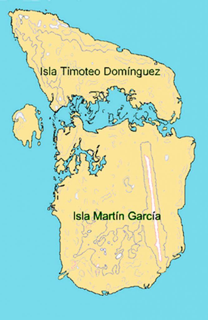 Mapa Isla Martín García