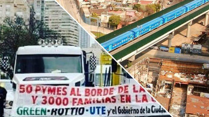 Viaducto San Martín: Protesta