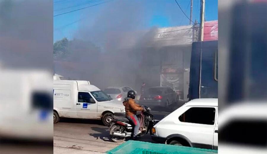 Incendio Arias y Santa Rosa