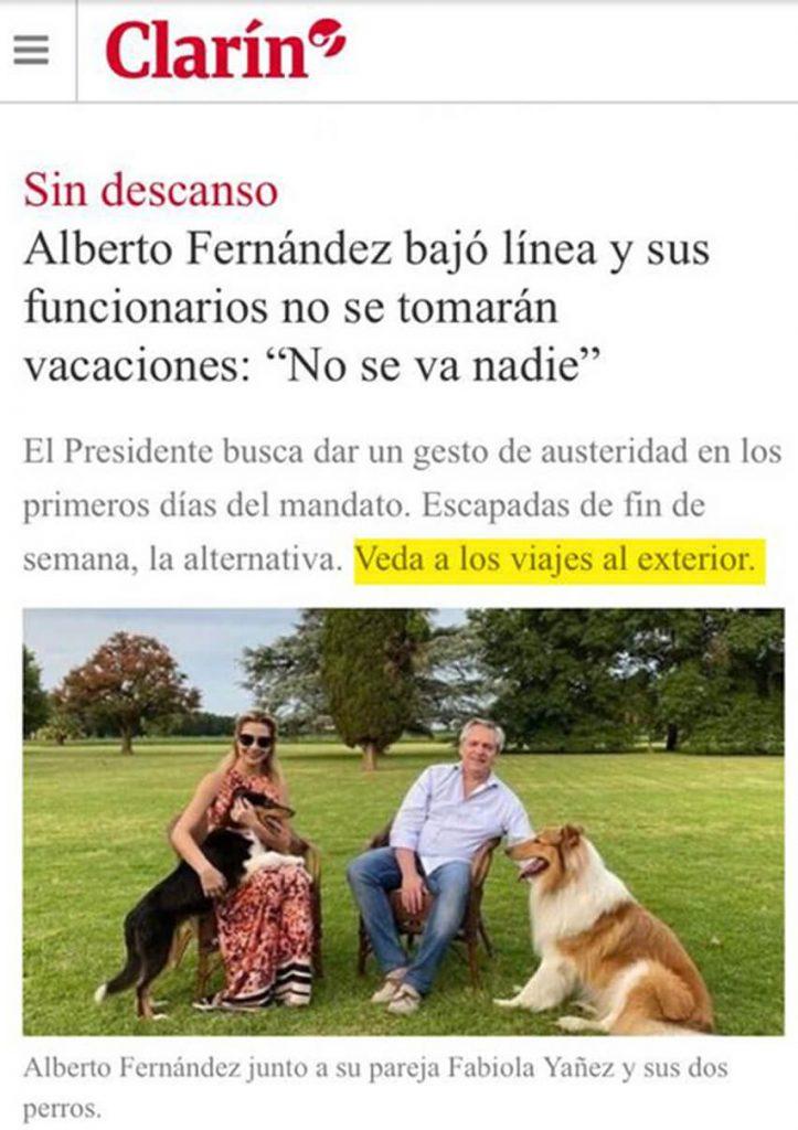 Alberto Fernández Presidente Argentina Diario Anticipos