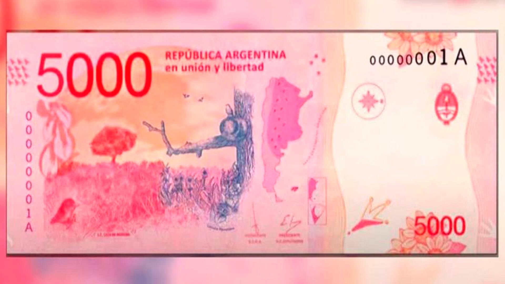 Billetes de $5000