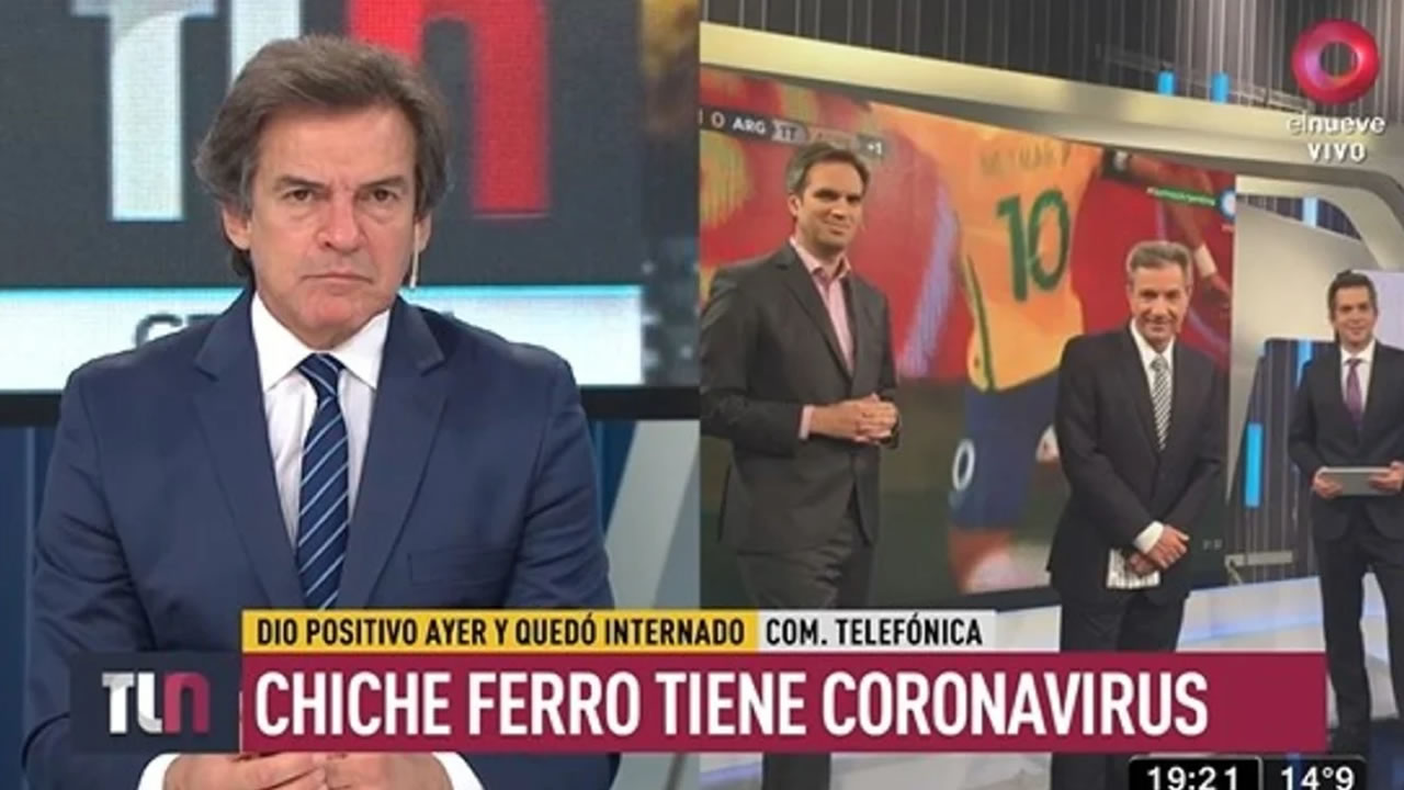 Los riesgos de los programas en vivo: tele con coronavirus