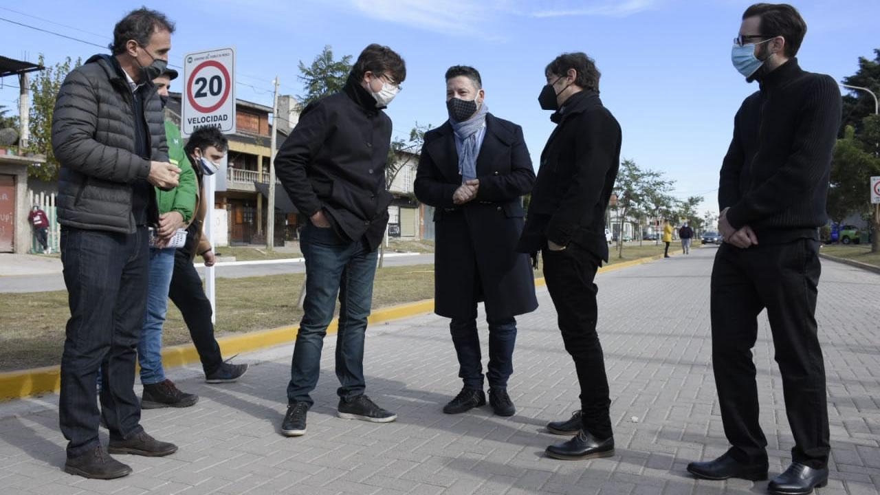 Kicillof junto a Ghi y Menéndez inauguraron obras hidráulicas