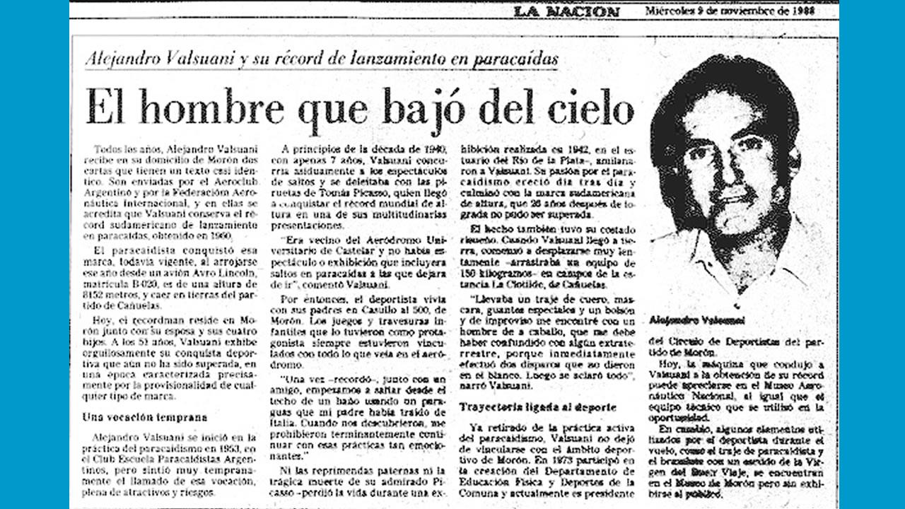 El record en el diario La Nación
