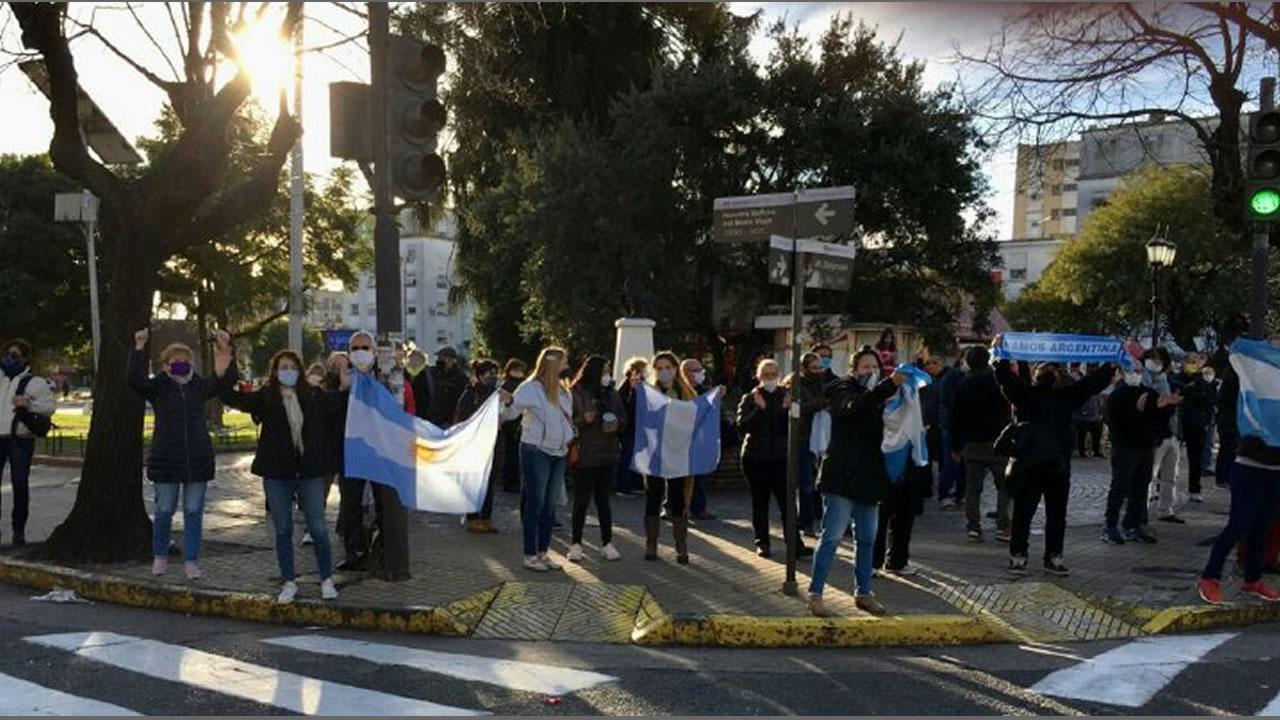 Tibia protesta contra la cuarentena en el oeste