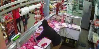 Merlo: Roban supermercado