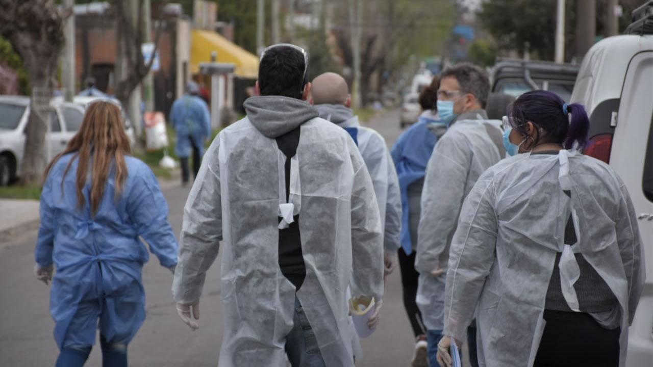 Operativo Detectar en el Barrio Santa Rosa, Castelar Sur