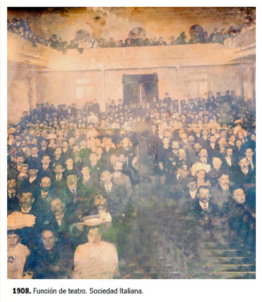 1909- Función en el Teatro Sociedad Italiana