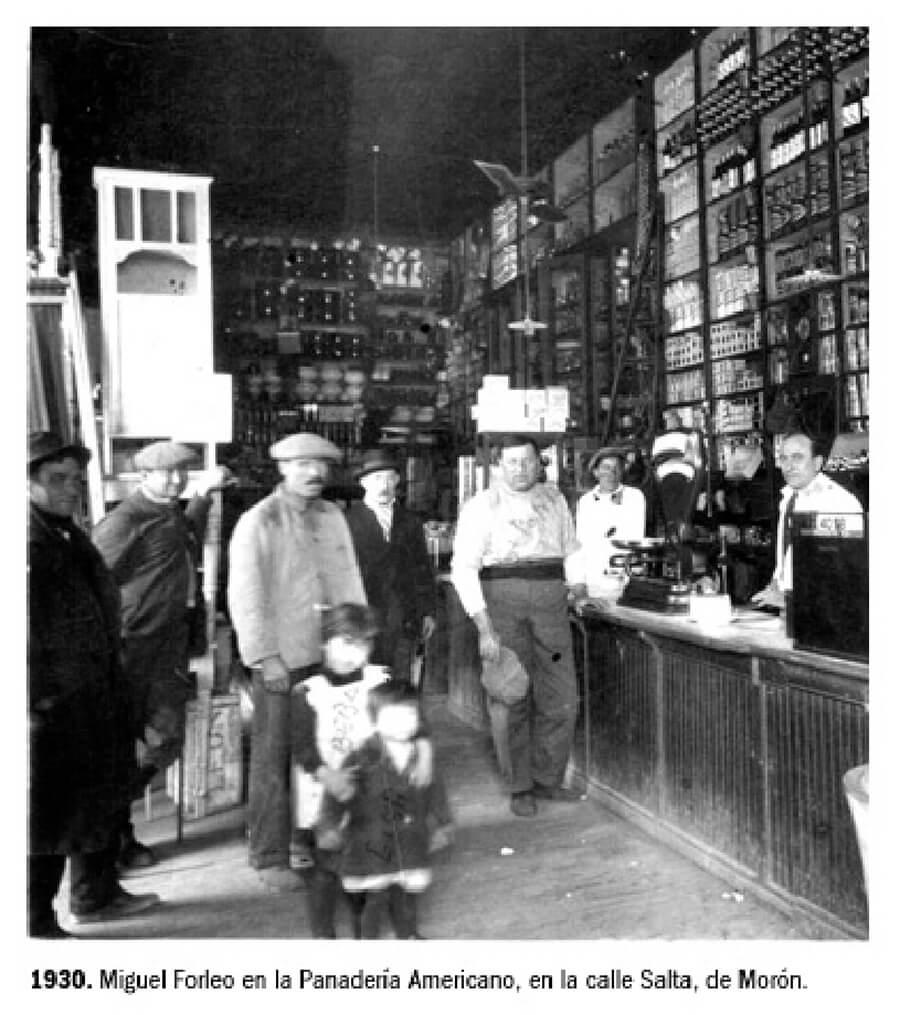 1930 - Miguel Forleo y La Panadería Americana sobre la calle Salta