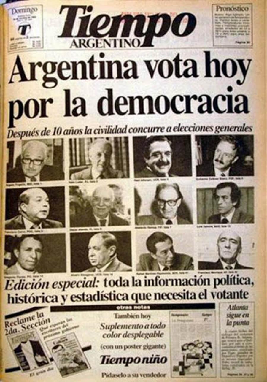 El regreso a la democracia