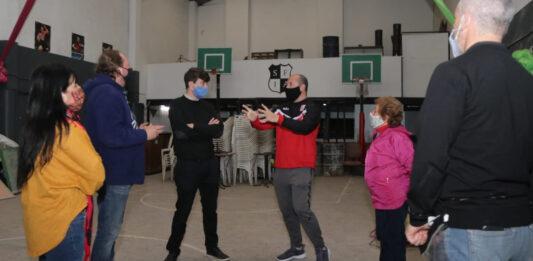 Morón: Lucas Ghi recorrió obras de la Sociedad de Fomento Intendente Agüero