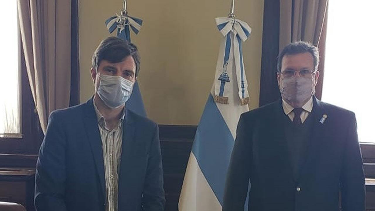 Lucas Ghi y Tristán Bauer se reunieron para consensuar agenda cultural entre Nación y Morón