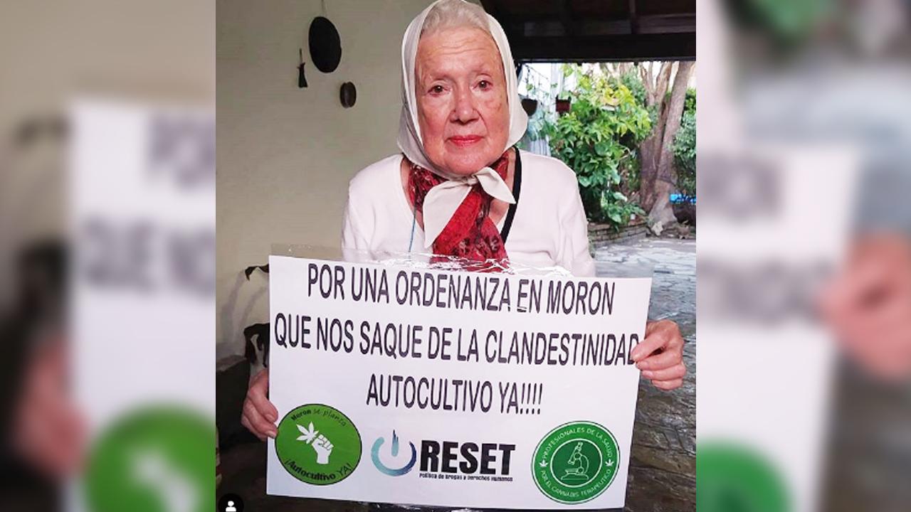 Nora Cortiñas apoya el uso terapéutico del cannabis