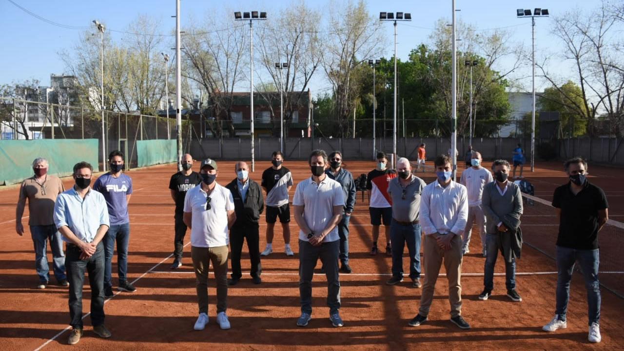 Deporte local: Ghi supervisó protocolos para el regreso del Tenis en Morón