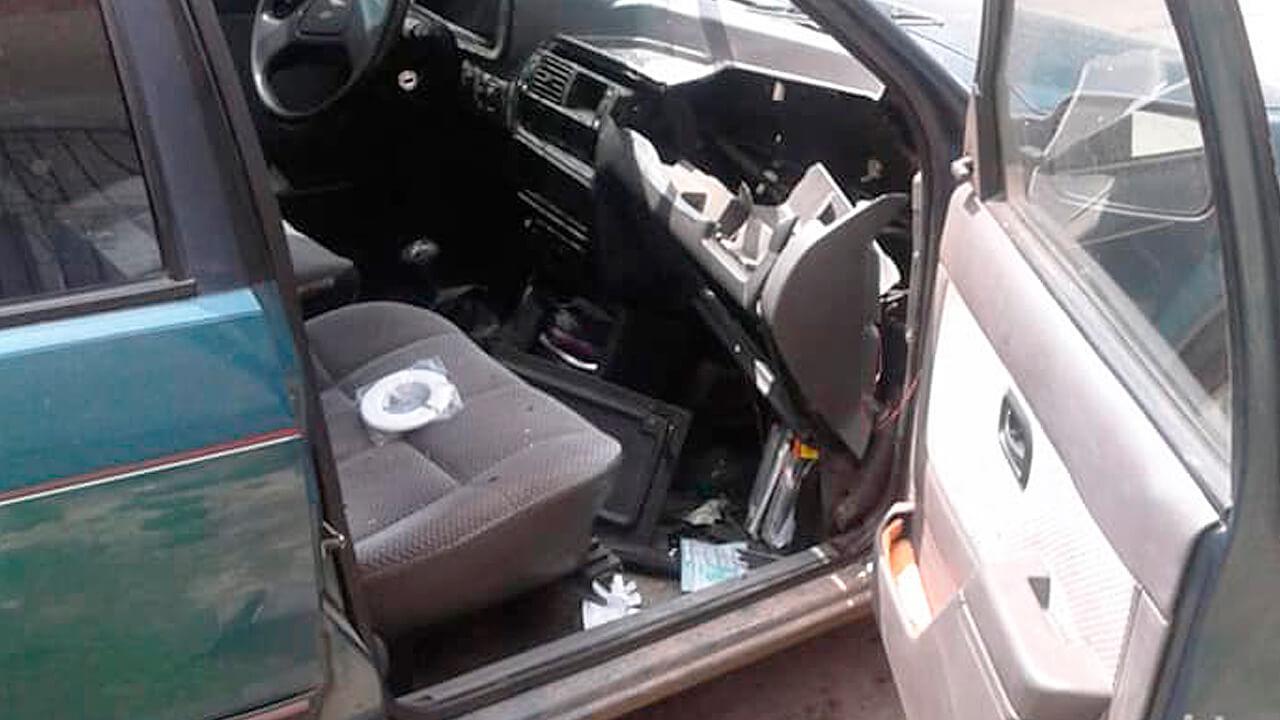 Increíble pero Real: Explota envase de alcohol en gel y destroza un vehículo