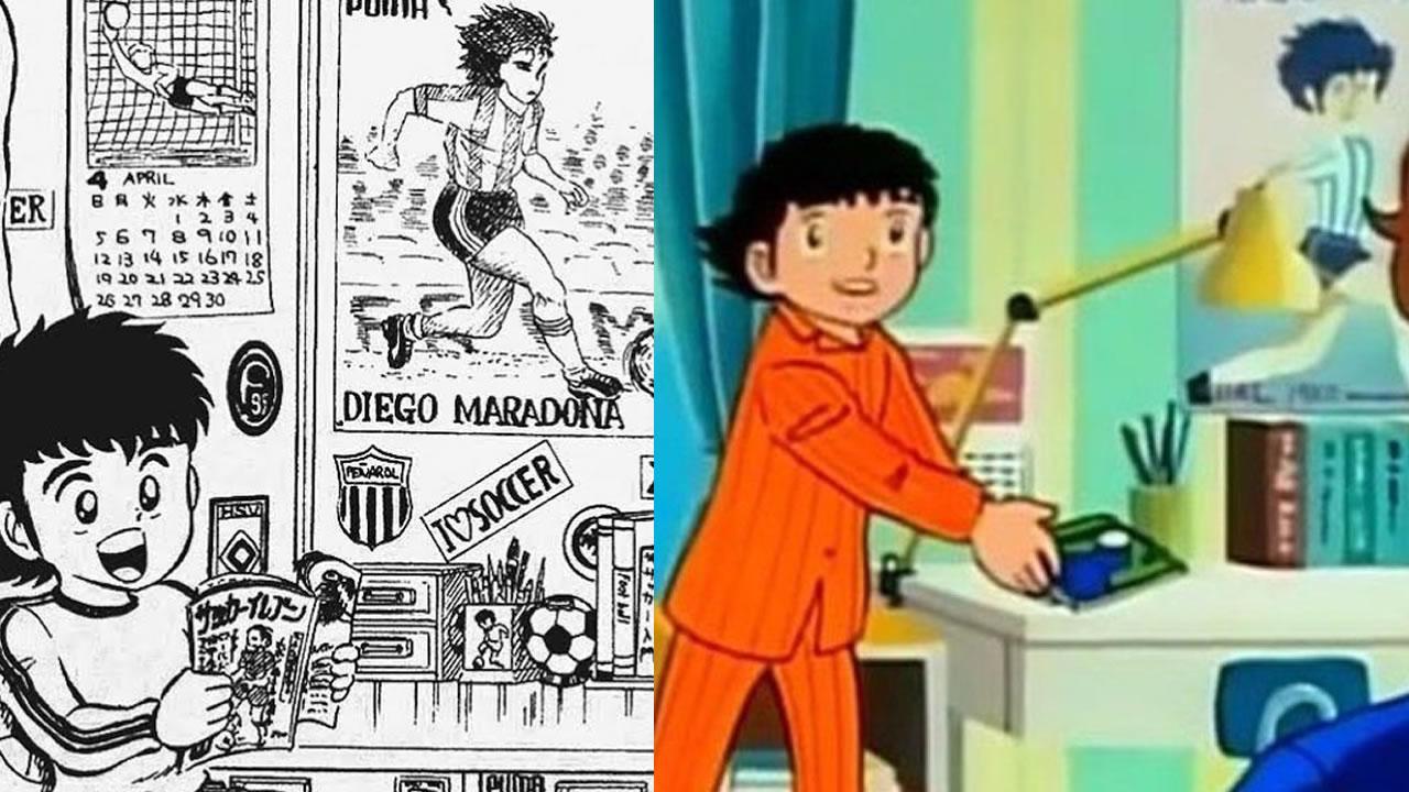 """Diego Maradona en el ánime japonés ¿Lo sabías?. Apariciones en """"Supercampeones"""""""