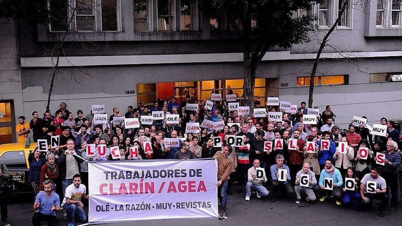 Trabajadores de Clarín, La Razón y Página/12 al paro