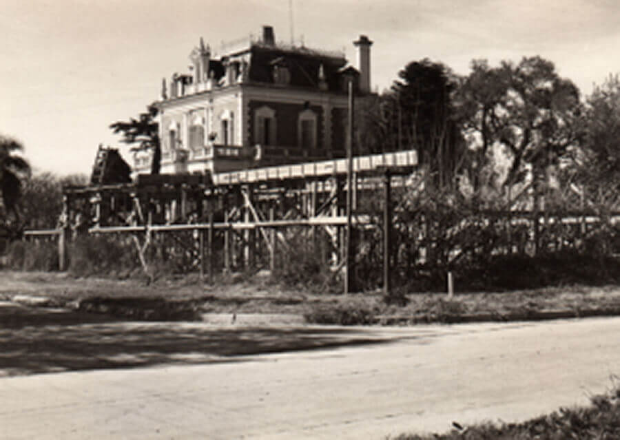 Construcción del Instituto Inmaculada en la década de 1960
