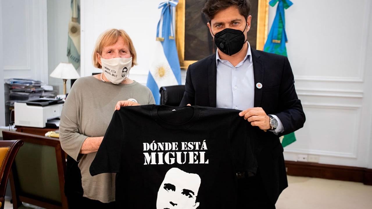 La madre de Miguel Bru le hizo un pedido a Kicillof sobre los restos de su hijo