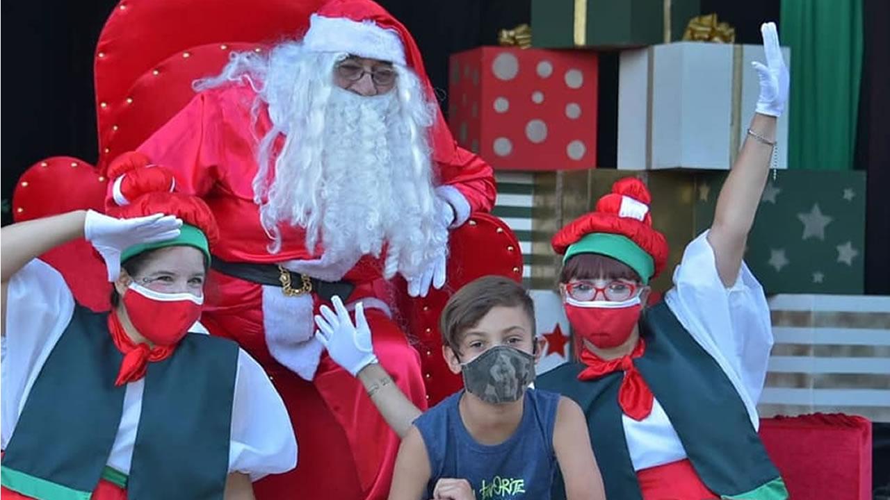 En Ituzaingó ya está Papa Noel para saludar a los chicos