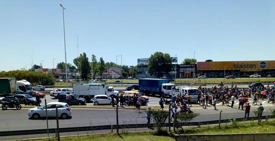 Ahora Ituzaingó: Protesta sobre la Aut