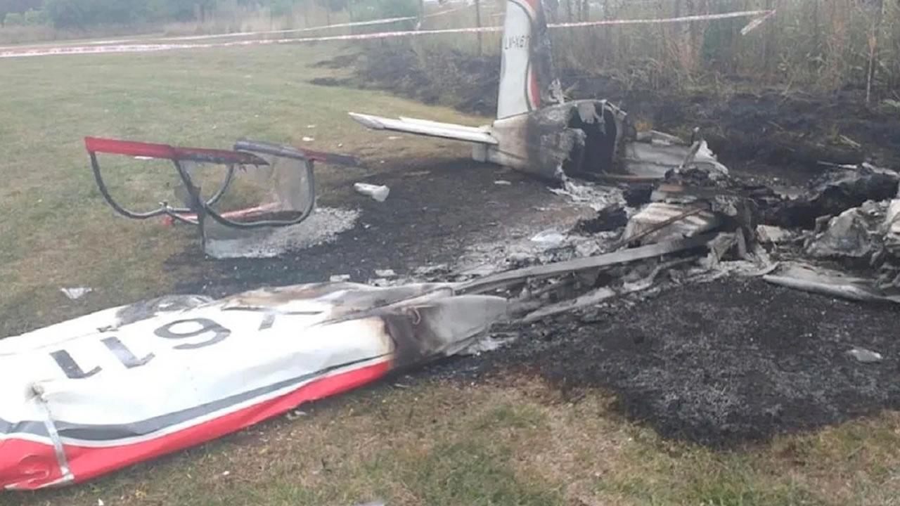 Cayó avioneta en un country en General Rodríguez: dos muertos