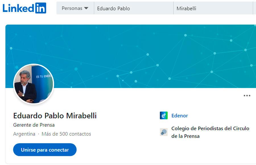 Eduardo Pablo Mirabelli es el Gerente de Prensa de Edenor