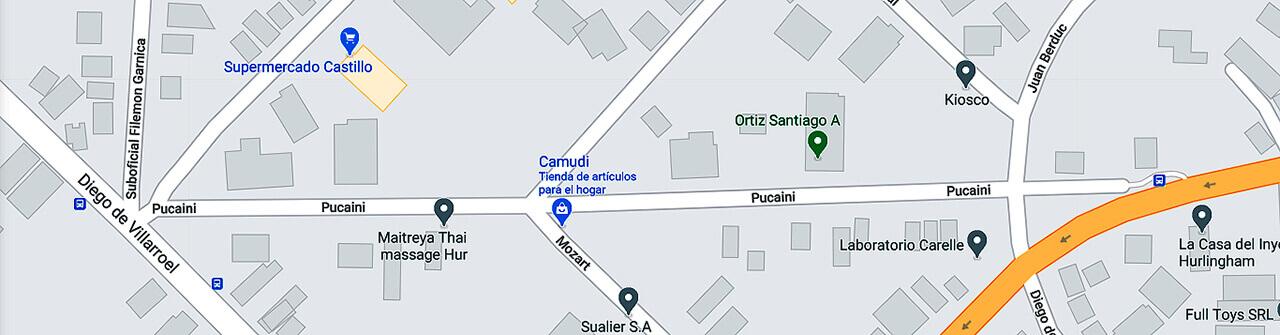 Hurlingham y Pucaini la calle con el nombre falso