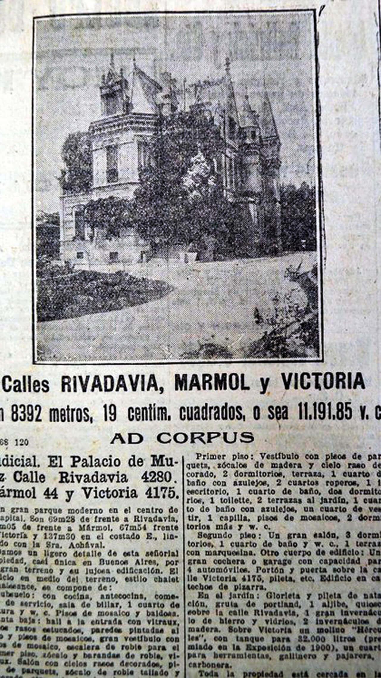 Un palacio demolido en Argentina tiene su gemelo en Francia