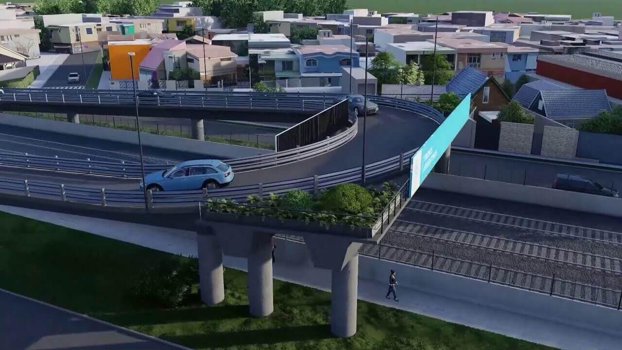 Comenzaron a colocar los puentes sobre el Ferrocarril Sarmiento