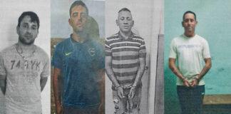 Cinco presos prófugos