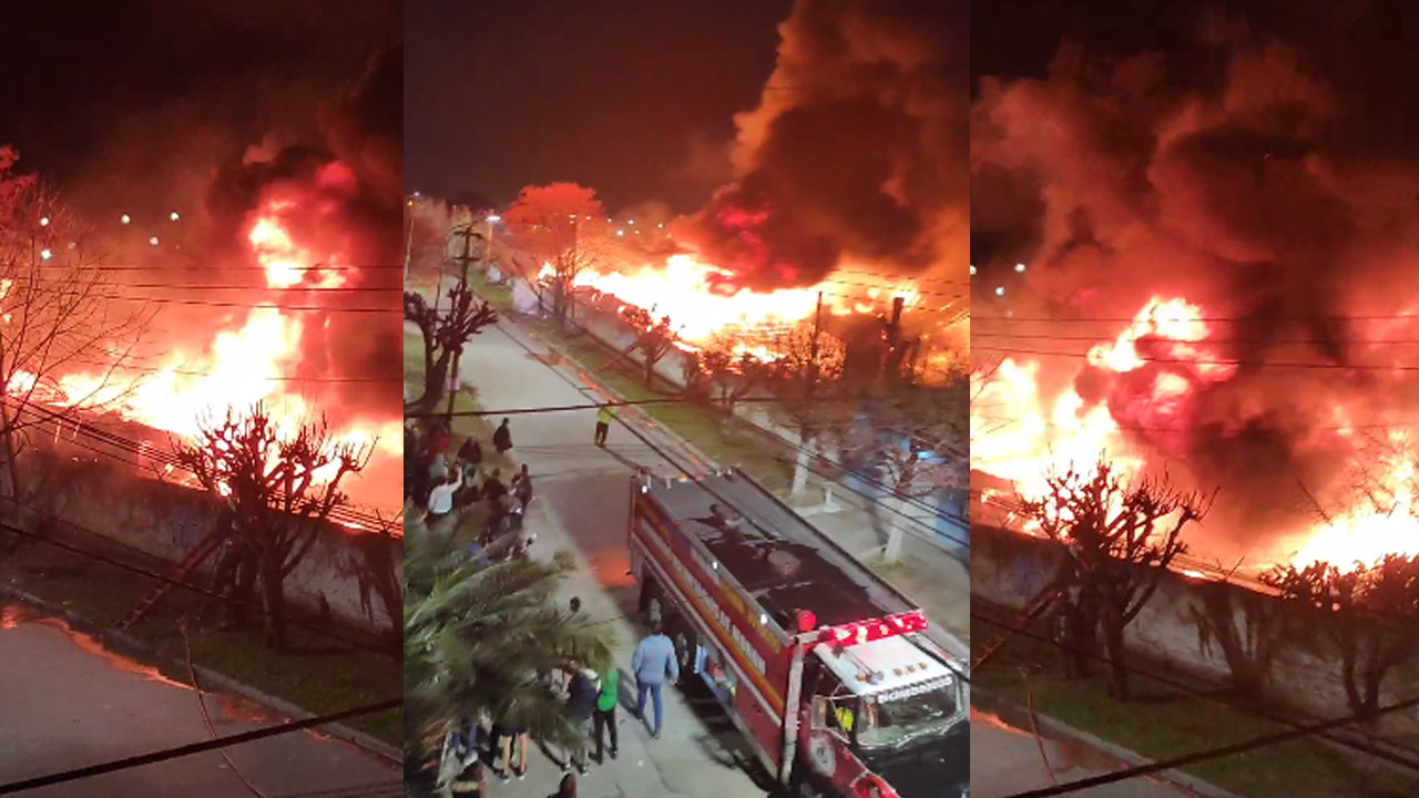 Ahora en Morón: Gigantesco Incendio