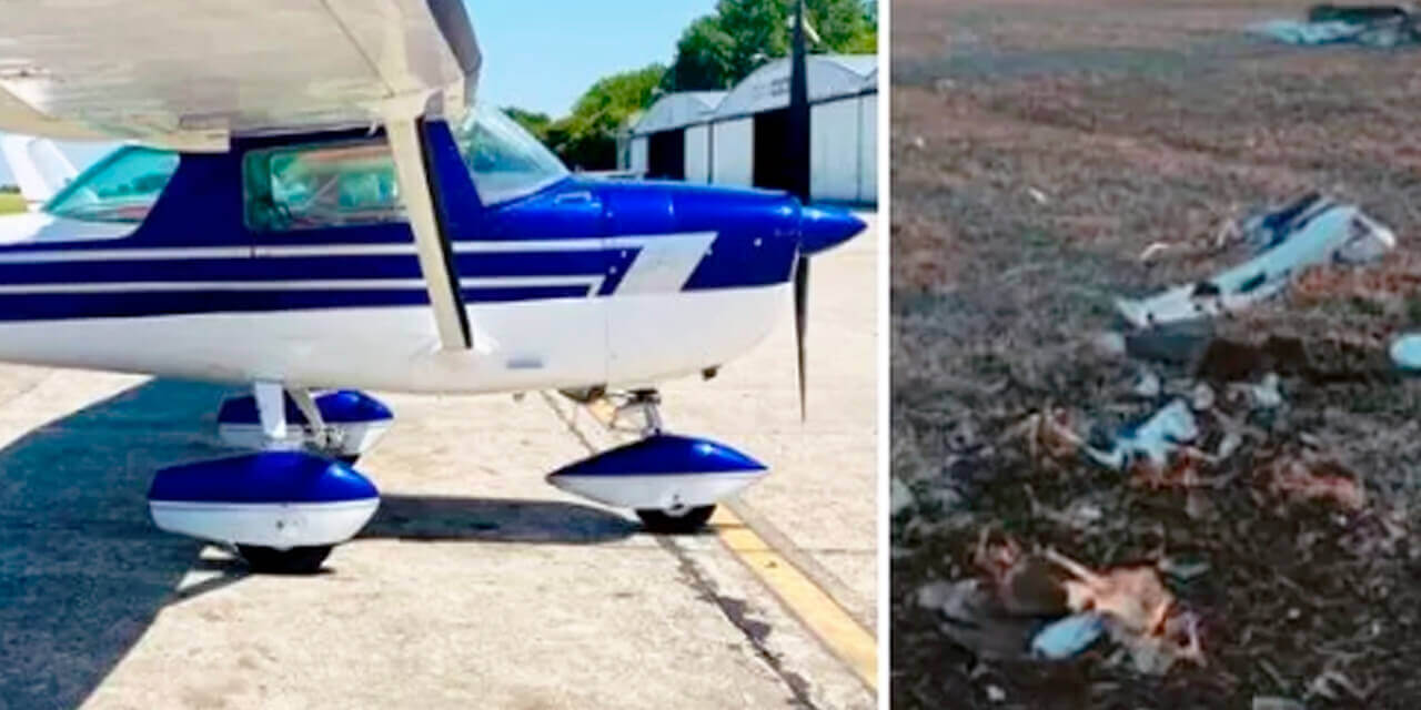 Se cayó una avioneta de la Escuela de Pilotos de Morón ProFlight