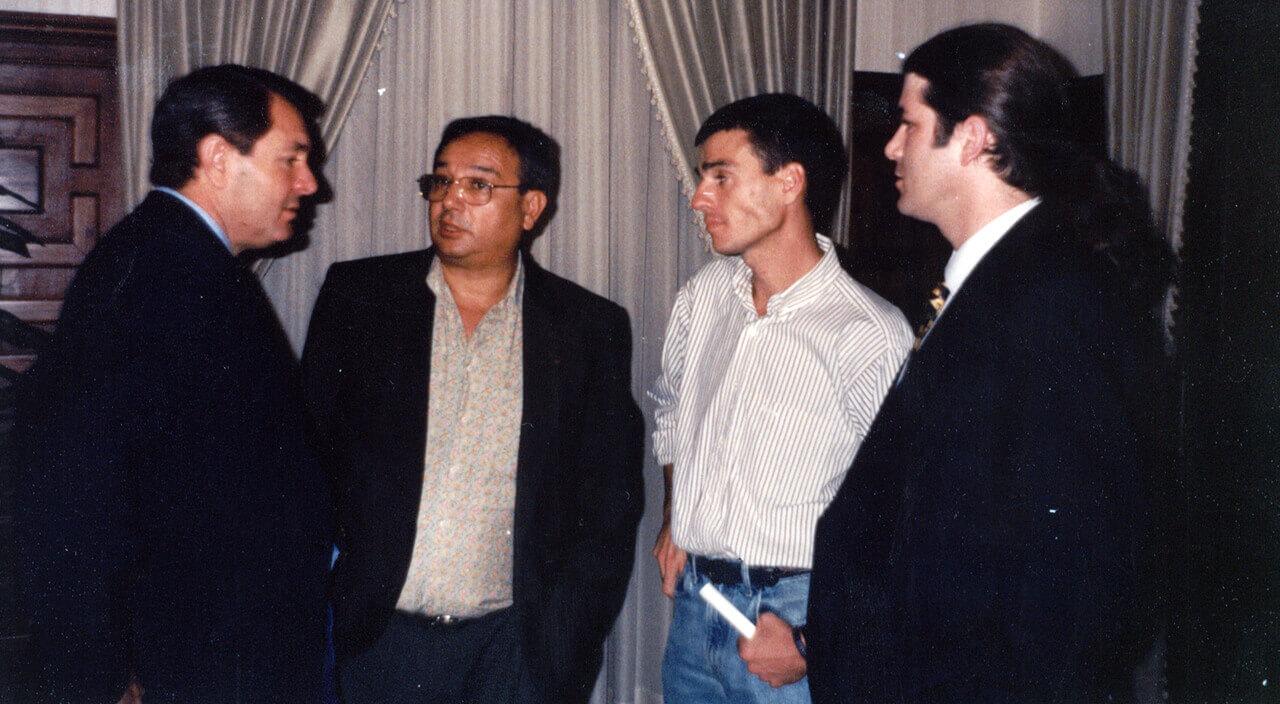 1997 - Con el Vicegobernador Balito Romá, Horacio Román, Juan Zabaleta y el periodista Andrés Llinares