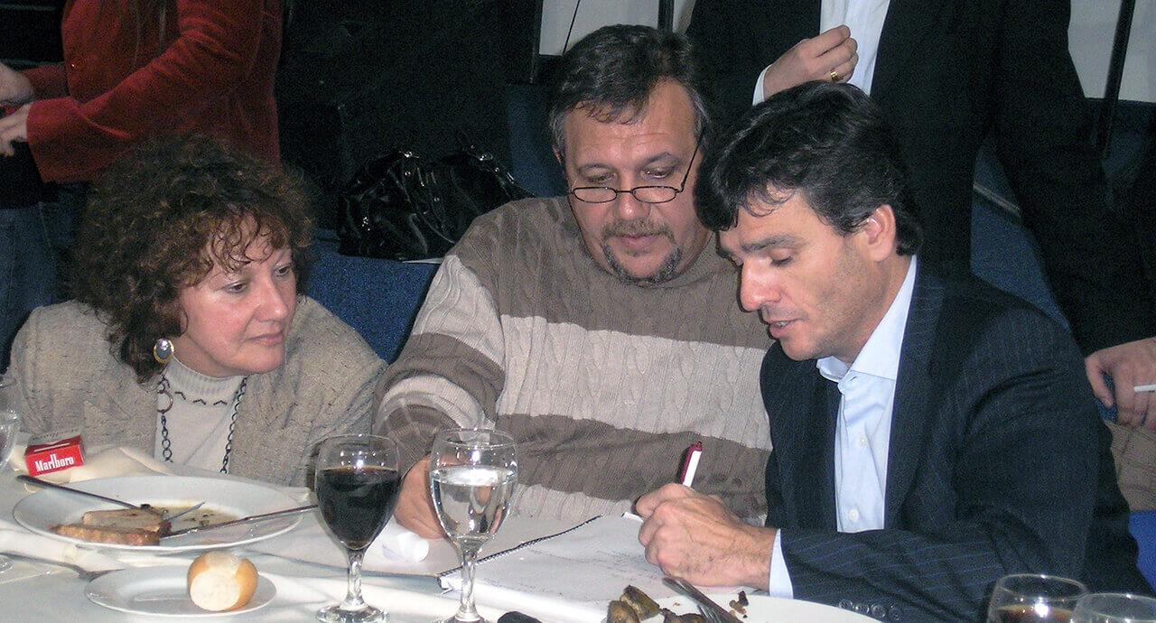 2009 - Zabaleta, Claudio Román y Cristina Rodríguez antes de las Legislativas de ese año