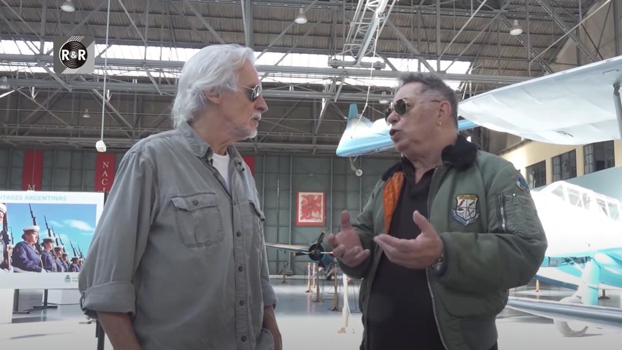 Nitro Mestre y Ronny Bar de El Palomar grabaron en el Museo Aeronáutico Morón