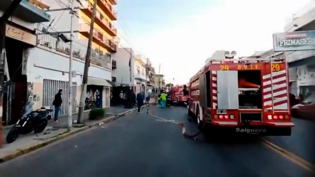 Incendio trágico en Caseros